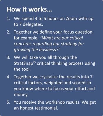 How the workshops work