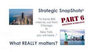 Strategic SnapShots: What REALLY Matters - Part 6 Strategic Action Plan