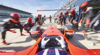 Photo of Formula 1 racing team pit stop